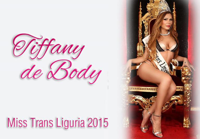 Tiffany de Body vince il Miss Trans liguria 2015